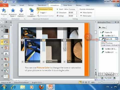 Using PowerPoint 2010 - Remove an Animation