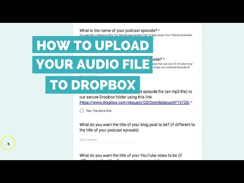 How to upload your audio file to Dropbox - Tutorial