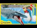 Jurassic World Fallen Kingdom Dinosaur Water Toys Giant Mosasaurus Fun Toy Dinosaurs Set For Kids