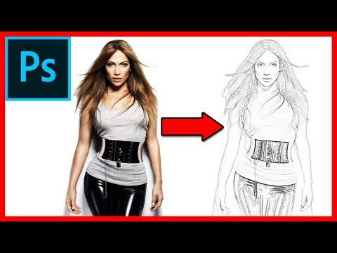 How to create a pencil drawing / sketch effect in Photoshop CC 2018 - Tutorial