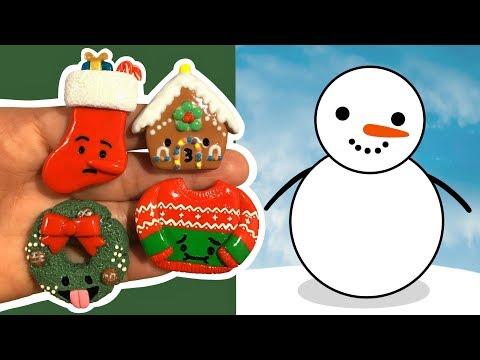 SNOWMAN VS CHRISTMAS EMOJIS! Polymer Clay Tutorial
