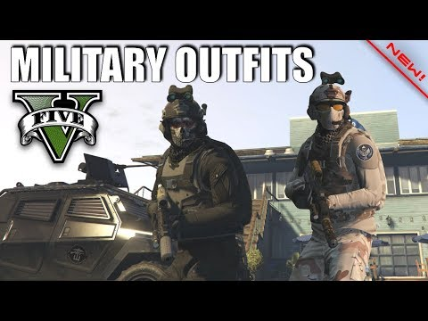 GTA V - Task Force 88, SOG & Militant Outfits! New Top Doomsday Military Oufits!