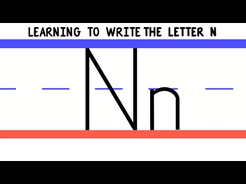 Write the Letter N - ABC Writing for Kids - Alphabet Handwriting by 123ABCtv