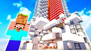 NOOB BUILDS ULTIMATE TNT CANNON! (Minecraft Factions EP5)