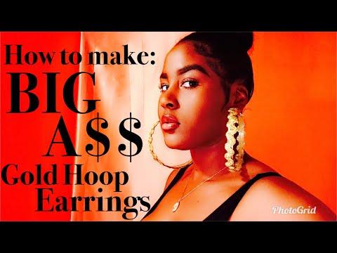 DIY Hoop Earrings| Big Gold Earrings| Keep Your Tarnished Earrings| Keep Earrings From Turning