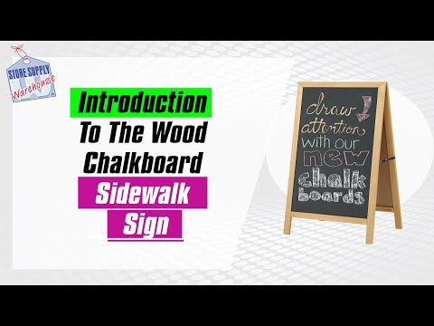 Introduction to the Wood A-Frame Chalkboard Sign