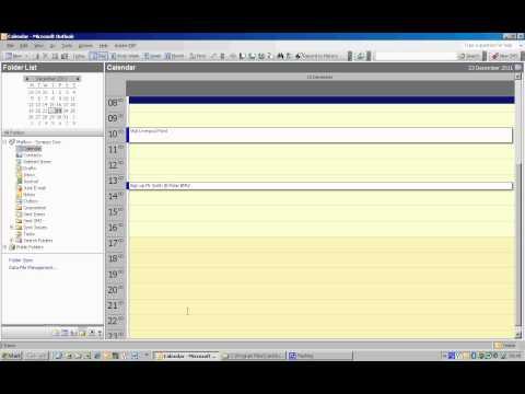 Adding Calendar Items to Outlook 2003