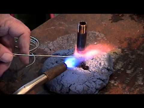 Silver Brazing Demo - Stainless Steel, Brass, & Copper