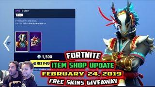 fortnite item shop update epic taro and nara skin february 24 - fortnite taro and nara