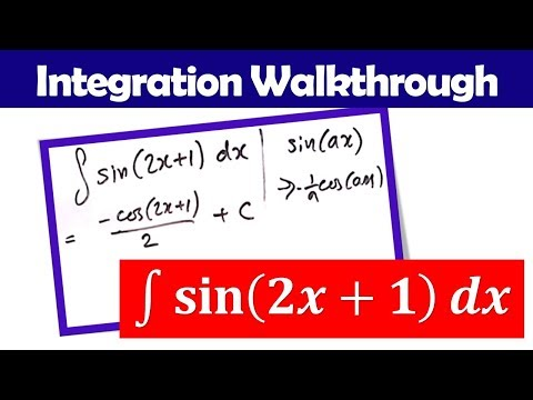Integral of sin(2x+1) ~ Chain Rule