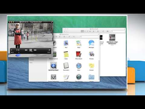 How to open and play movies or videos in QuickTime® Player 10.x on a Mac® OS X™