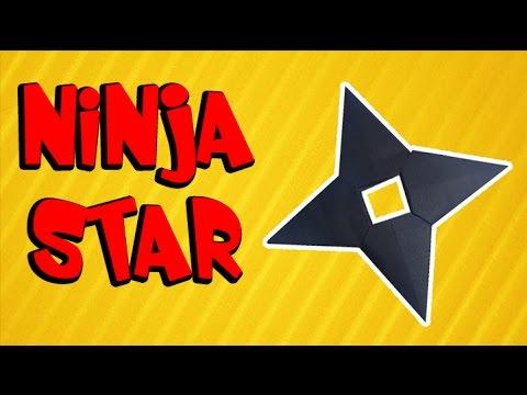 How to make Naruto Ninja star (Shuriken) - Origami easy and simple