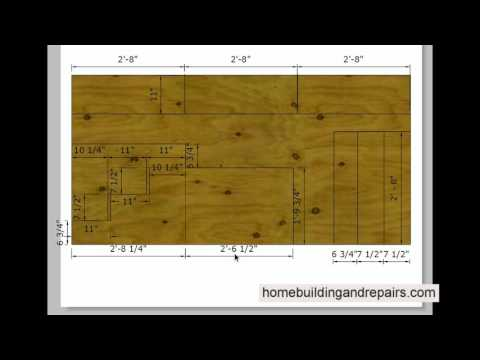 Detailed Measurements for Video on How to Build Plywood Stairs