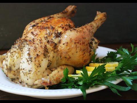 Lemon Garlic Roasted Chicken | One Pot Chef