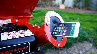 What Happens If You Put iPhone 7 In Wood Chipper?