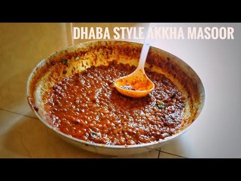 How to  make dhaba style Akkha masoor recipe