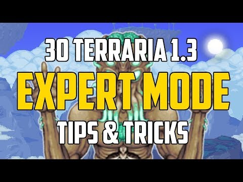 Terraria 1.3 30 EXPERT MODE TIPS & TRICKS YOU MUST KNOW!   PC   PS4   XBOX1