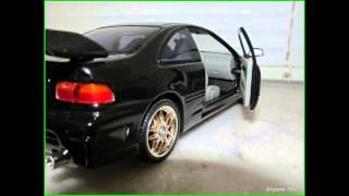 Velozes e Furiosos Honda Civic 1995 SERGIUMX Diecast 1/18