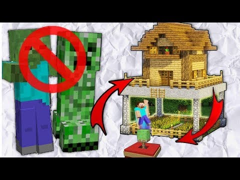 Minecraft: How to Build a Mob Proof House / Creeper Proof House Tutorial