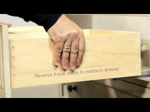 Bottom Latch Drawer Removal