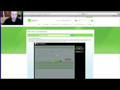 H & R Block Tax Refund Calculator for 2012, 2013