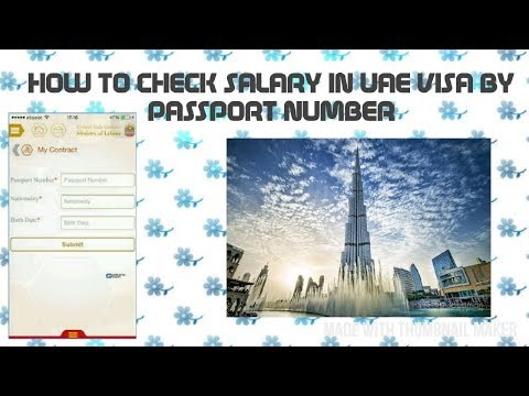 How to Check SALARY in Dubai | UAE VISA by passport number