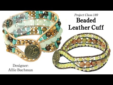 Beaded Leather Cuff (Tutorial)