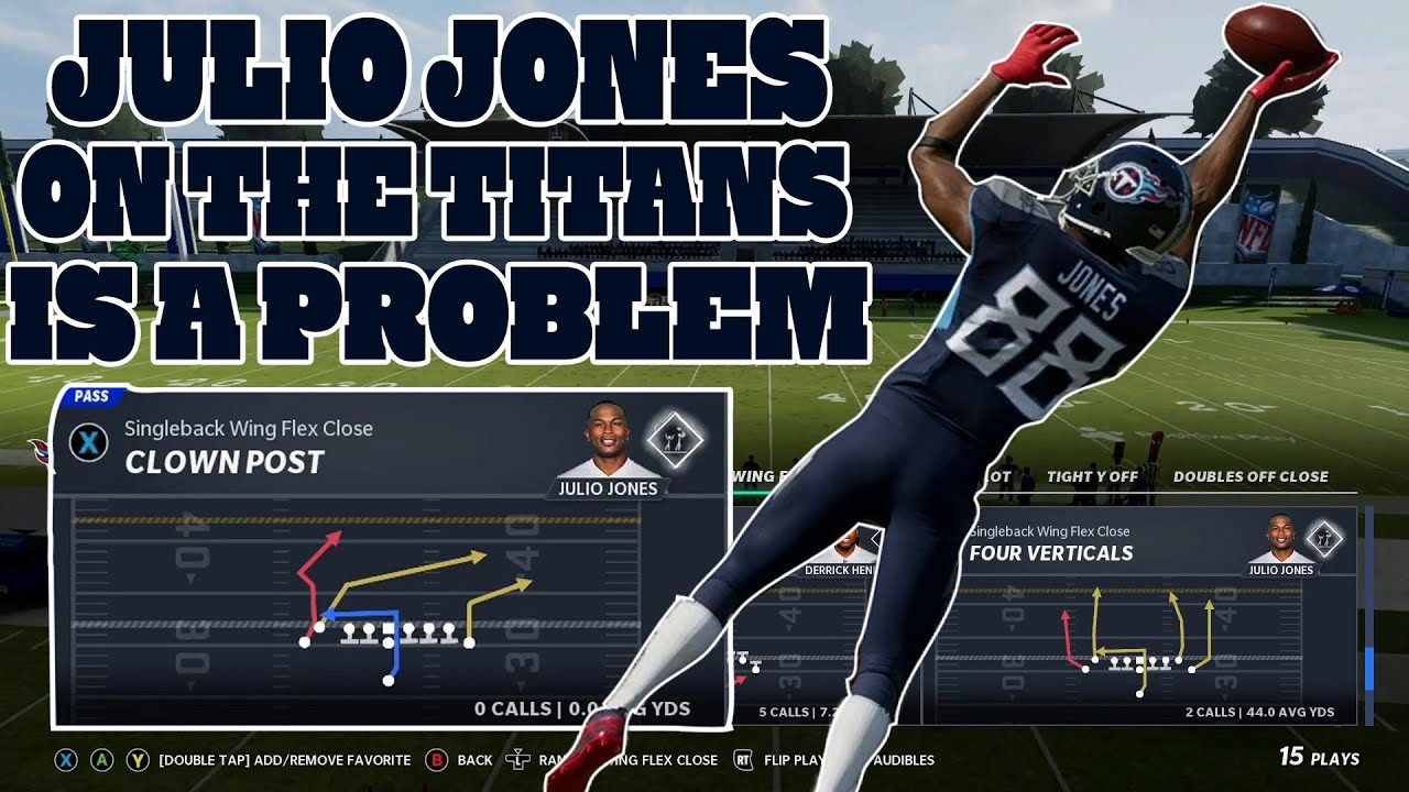 Julio Jones on the Titans is UNSTOPPABLE! Madden 21 Raiders Money play!