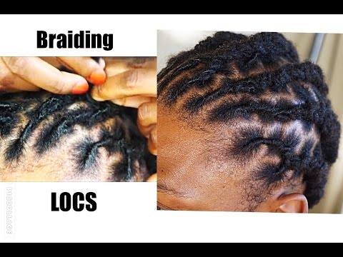 HOW TO BRAID SHORT LOCS