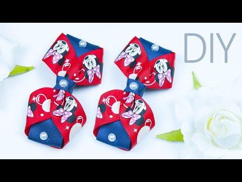 DIY simple Ribbon Hair bow (No sew) | Hair accessories | Beads art