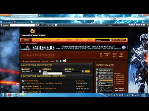 How to find servers for Counter-Strike Source