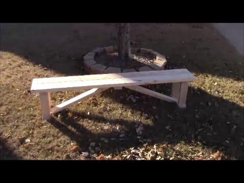 Beautiful, Simple Harvest Farmhouse Bench (DIY)