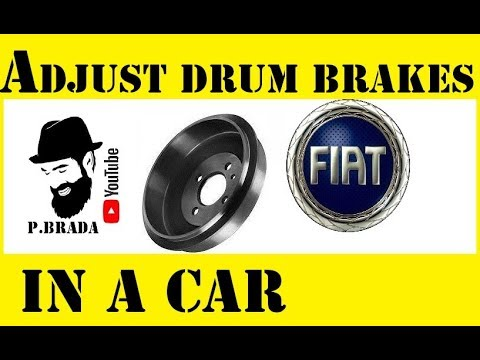 How to adjust the drum brakes in a car