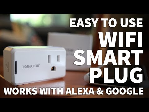 iSelector Wifi Smart Plug Socket - Smart Light Switch with iPhone Android Alexa and Google Assistant
