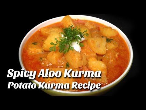 Spicy Aloo Kurma | Potato Korma Recipe | how to make Aloo kurma recipe | Hyderabadi Ruchulu