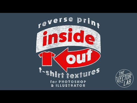 Inside Out: Reverse Print Texture for T-Shirt Printing