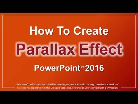 How to Create Parallax Animation in PowerPoint