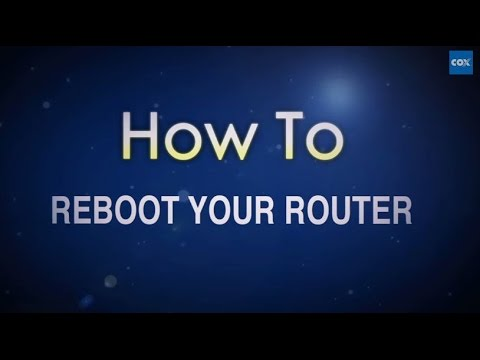 How To Reboot Your Router | Cox High Speed Internet