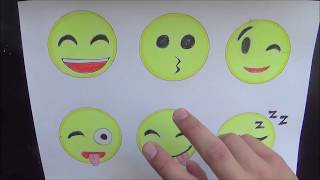 How to Draw Emojis Step by Step (9/23/ 2017)