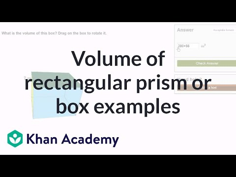 Volume of a rectangular prism or box examples | Measurement | Pre-Algebra | Khan Academy