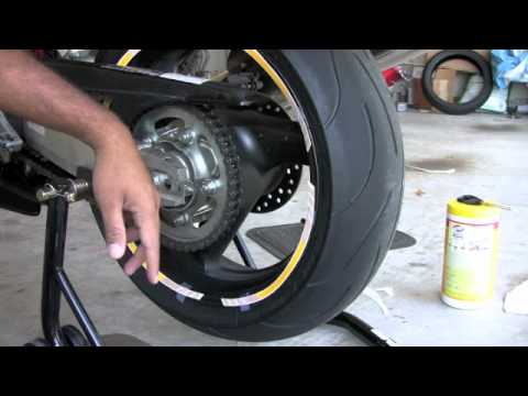 Rim Strips Installation - Rear Wheel