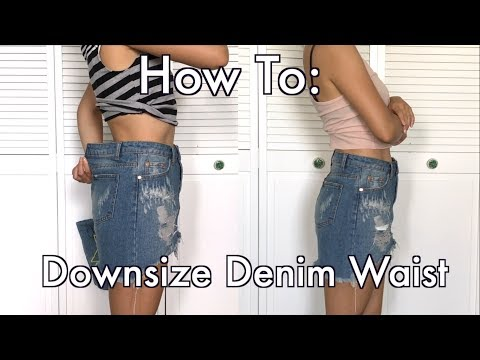 How To Downsize Denim Waist [Nice & Clean Look]