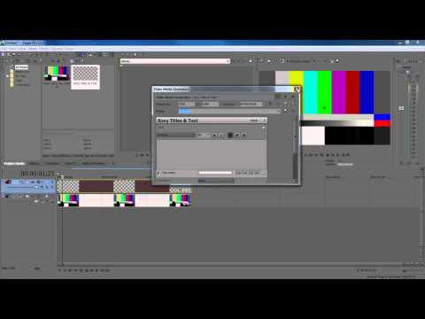 Tutorial: Howto add timer/stop watch to a video with Sony Vegas
