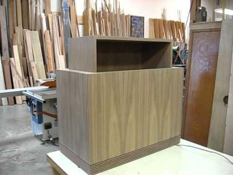Walnut Cabinet with Hidden TV Lift.