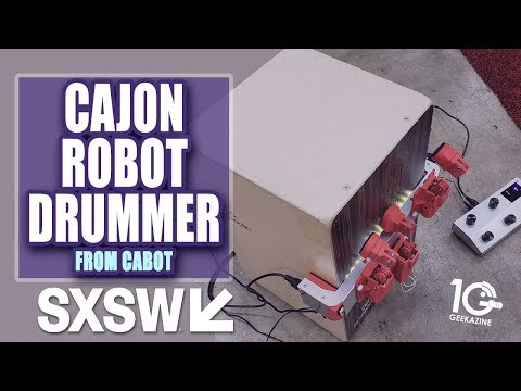 Cabot: I Play with the Cajon Robot Drummer