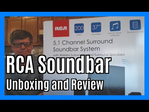 RCA 5.1 Channel 200W Surround Soundbar Speaker System (RTS739BWS)