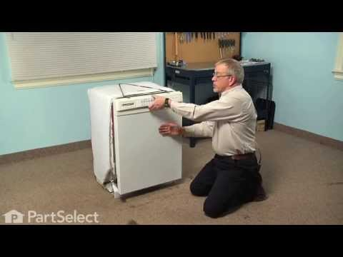 Dishwasher Repair - Replacing the Detergent and Rinse Aid Dispenser (GE Part # W10224428)