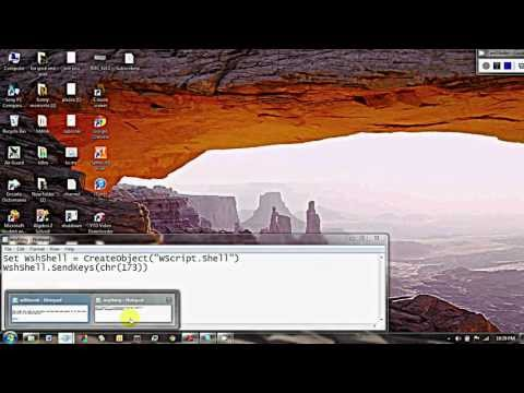 How to mute your speakers using vbs or notepad.