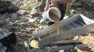 Gold panning and High-banking at Shaolhaven River, NSW, Australia
