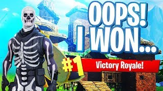 Accidentally WINNING a game of Fortnite...? (Fortnite Battle Royale Gameplay)